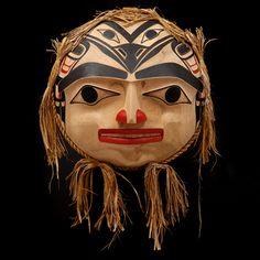 Raven's Moon Mask - created by Reg Davidson (Haida Nation) Arte Haida, Haida Art, Native American Masks, Sculpture Art, Sculptures, Native Art, Native Indian, Inuit Art, Canadian Art