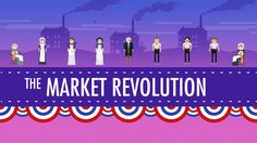 The Market Revolution from John Green's Crash Course in US History. This is an excellent overview, not just of the market revolution in abstract terms, but of the changes it brought to average people's lives. Ap European History, Ap Us History, Modern World History, American History, Social Studies Classroom, Teaching Social Studies, Crash Course Us History, Educational Videos, Social Science