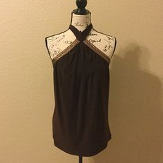 Brown halter top NWT New with tags Charlotte Russe Tops