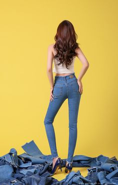 Korean Women`s Fashion Shopping Mall, Styleonme. Fashion Poses, Fashion Outfits, Womens Fashion, Long Legged Girls, Blue Jean Outfits, Korean Girl Fashion, Perfect Jeans, Korean Outfits, Korean Women