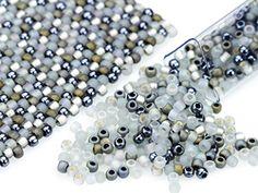 Artbeads Gray Flannel Designer Blend, 11/0 TOHO Round Seed Beads
