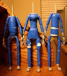 The Hollow Boy Production Blog: Puppet Fabrication (Built Up Method) and Clothing for Stop-Motion Puppets - Part 1