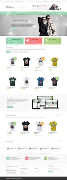 #website #eCommerce #template  Draco - #Responsive Magento Theme For #Fashion Website ->