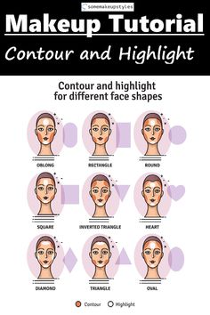 Corrective makeup is about simply using . - Corrective makeup is about simply using highlights (light) and contour (dark) to change the shape o - How To Contour Your Face, How To Apply Makeup, Applying Makeup, Make Up Tools, Highlighter Makeup, Contour Makeup, Eye Makeup, Face Contouring, Contouring And Highlighting