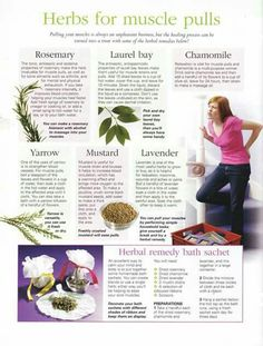 Herbs for pulled muscles