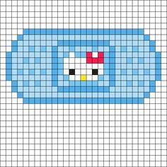 Easy Perler Bead Patterns, Pony Bead Patterns, Perler Bead Templates, Kandi Patterns, Diy Perler Beads, Perler Bead Art, Pixel Art, Cross Stitch Art, Cross Stitch Patterns