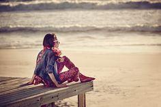#Catimini #Beach #Playa #Denim #Jacket #Pink #Sand #Summer Printemps été 2016 Shooting Catimini