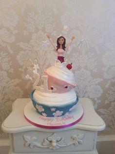 Topsy turvy cupcake novelty birthday cake