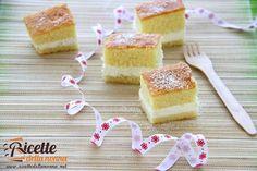 Le merendine Paradiso sono dei dolcetti perfette per la merenda dei bambini. Sono sostanzialmente una torta margherita farcita di una crema alla panna. Semplici e molto buone.
