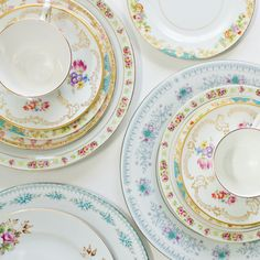 Eclectic place settings from Antiquaria (product photo by Intertwyned)