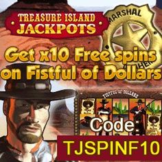 Fistful of Dollars with www.initto-winit.com yours to play with 10 free spins using promo code TJSPINF10 Its time to saddle up and head out of west. but you'd better be quick on the spin if you want to get any where in this wild west slot! More info http://www.initto-winit.com/treasure-island-jackpots/ spelautomater http://gamesonlineweb.com/casino/