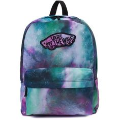 Vans Realm Galaxy Nebula Backpack (1,750 MXN) ❤ liked on Polyvore featuring bags, backpacks, backpack, accessories, vans backpacks, embroidery bag, galaxy bag, multi color backpack and galaxy backpack