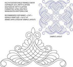 Patrones para papel, acolchado y manualidades: