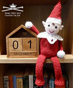 http://www.ravelry.com/patterns/library/christmas-shelf-elf  PATTERN RELEASE & FLASH GIVEAWAY TIME! Just share this photo to win a copy of the Christmas Shelf Elf. For an extra entry pin this picture: http://www.pinterest.com/pin/70437468151683/ and link your pin in the comments. Winner's will be drawn on Monday 25th Nov at 7.30pm. BUT if you can't wait till then the pattern is now available on Craftsy & Ravelry, links in comments.