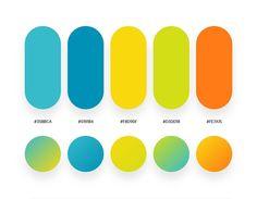 design - 32 Beautiful Color Palettes With Their Corresponding Gradient Palettes Orange Color Schemes, Orange Color Palettes, Orange Palette, Blue Color Combinations, Flat Color Palette, Green Colour Palette, Cores Rgb, Ui Color, Logo Color