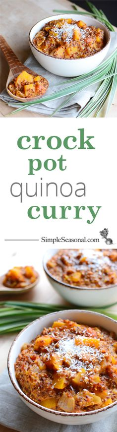 Crock Pot Quinoa Curry is a quick and easy, hearty and healthy meal that will warm you from the inside out.