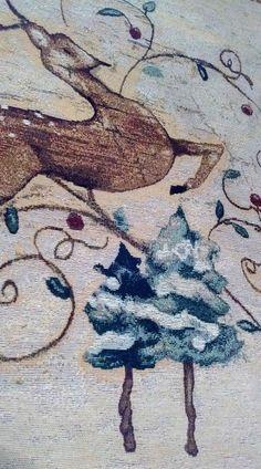 "Tapestry 26"" x 36"" Leaping Deer Artist-Cheri Blum"