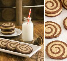 Sprinkle Bakes: Mocha Swirl Cookies