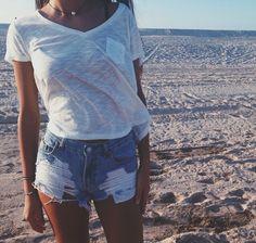 Beach casual.