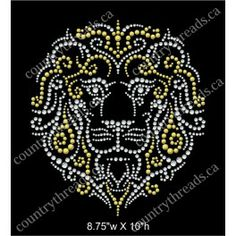 Lion rhinestoned in various sizes