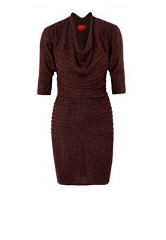 Bordeaux Evening Lurex Dress