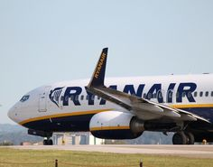Photo of a Ryanair Boeing 737-800 ready for take off at Bologna in Italy (BLQ / LIPE).