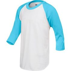 Rawlings Men's 3/4 Sleeve T-shirt Blue Bright - Baseball Apparel, Men's Baseball Tops at Academy Sports