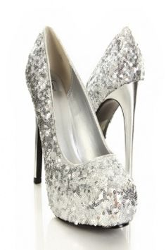 Great shoes. Now I'd just need somewhere to go. #sequin #glitter #stilettos