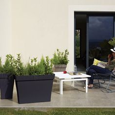Idéal pour aménager terrasses et balcons avec des végétaux de grandes tailles. Bac Roméo rectangulaire Plus | Poetic Jardin