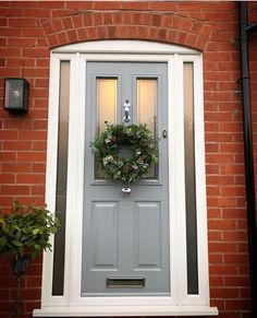Not sure what composite door you want? Take a look at some of the beautiful composite door installations that Solidor has done and get inspired online here. Cottage Front Doors, Victorian Front Doors, Front Door Porch, Grey Front Doors, Porch Doors, Front Doors With Windows, House Front Door, Front Door Colors, Front Door Decor
