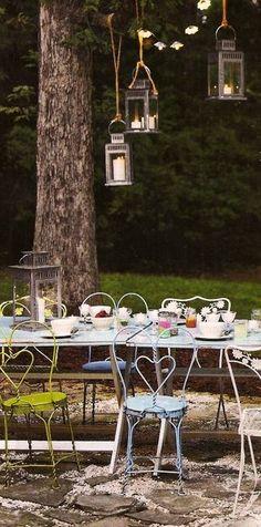 dining outdoors via garden rooms