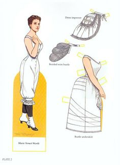 Worth Fashion Review paper dolls by Tom Tierney