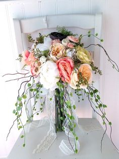 Boho wedding  boho bouquet  bohemian beidal by Knot2ShabbyDesigns