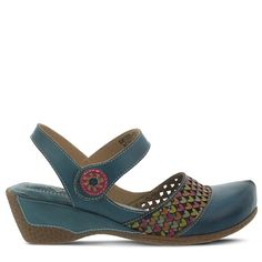 9ca72d96004 Spring Step Women s Amour Mary Jane Shoes (Teal Leather) - 37.0 M Spring  Step