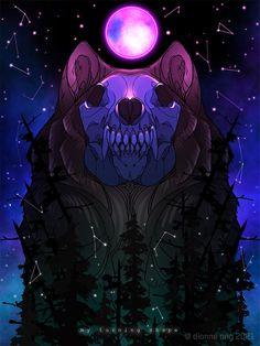 Dark Gothic Art, Dark Fantasy Art, Animal Sketches, Animal Drawings, Demon Dog, Cosmic Art, Beautiful Dark Art, She Wolf, Mythical Creatures Art