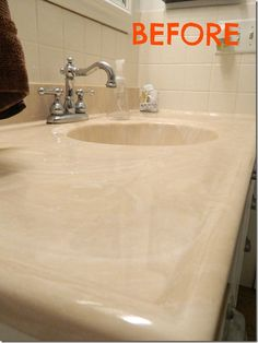 Use Tub And Tile Paint To Refinish An Integral Sink And Countertop - What kind of paint to use in bathroom