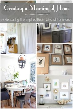 Creating a Meaningful Home Blog Series featuring Melissa of The Inspired Room. She's kicking off the series with her inspiring story on how she has created a meaningful home! www.sasinteriors.net