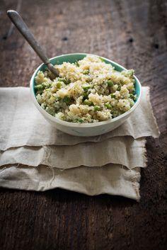 Ensalada de quinoa con menta y limón. #receta #vegana