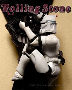 In 'Cloned Photos,' Canada-based photographer David Eger recreated iconic important and historical images, movie posters and album covers using Clone Troopers and other Star Wars characters.