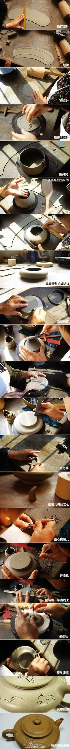 Making a tea pot