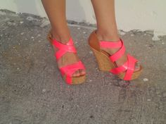 Pink neon shoes!!!