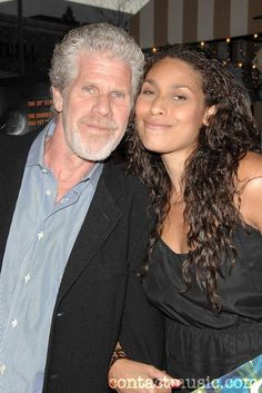 Ron Perlman w/ daughter Blake Amanda Beautiful Family, Beautiful People, Interracial Family, Daddy Daughter, Daughters, Tv, All In The Family, The Jacksons, Black Families