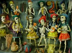 dayofthedead wooden dolls
