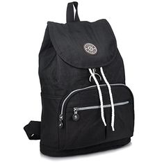 ZYSUN Fashion Travel School Backpacks LightWeight Bag for College Girls Womens(604,black) *** Check this awesome image @