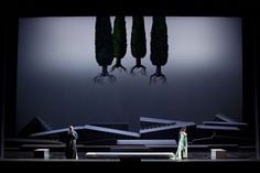 """Scenography  Pier Paolo Bisleri  """"Simon Boccanegra""""  silhouette and play of shadows/highlights; monochrome"""