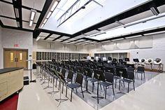 New music room at the Whitehall High School. Choir Room, New Music, Conference Room, High School, Furniture, Home Decor, Decoration Home, Room Decor, Grammar School