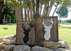 Deer silhouette wood panels