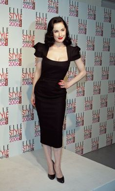 Dita von Teese is a huge style influence on me. I just love this dress. She always looks so classic and elegant.