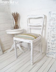 Vintage Stühle - Vintage Stuhl im Shabby Look - ein Designerstück von Wesnuschka bei DaWanda