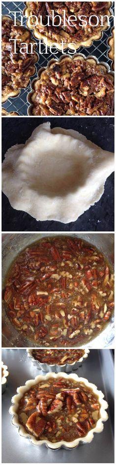Pecan tartlets!  #tart #recipe #baking #pecantartletrecipe